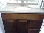 Eurostyle Vanity Chocolate c/w Basin Door, 2 Drawer