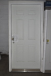 3/0x6/8 Exterior Door with Wood Brickmould for 2x6 Wall Left Hand