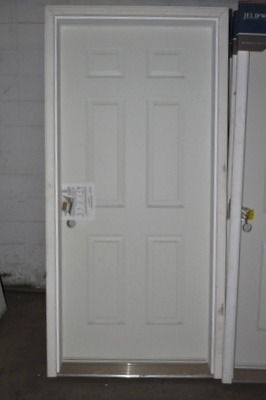 "36"" Exterior Insulated Metal Door with Primed Brickmould for 2x4 Wall Right & Left"