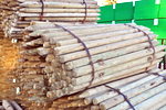 3-4x7' Treated Domed Top, Pencil Point Fence Posts ***Sold by the Bundle***