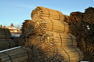 2-3x6' Treated Fence Posts